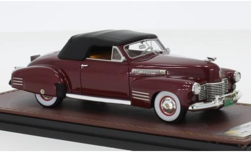 Cadillac Series 62 1/43 GLM Convertible Coupe metallise rouge 1941 miniature