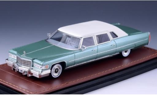 Cadillac Series 75 1/43 GLM Fleetwood métallisé verte/blanche 1976 miniature
