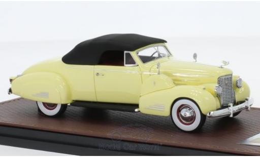 Cadillac V16 1/43 GLM Convertible Coupe jaune 1938 miniature