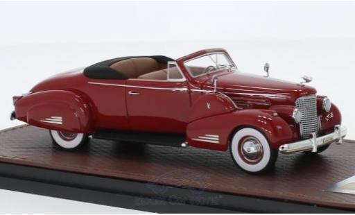 Cadillac V16 1/43 GLM Convertible Coupe rouge 1938 miniature