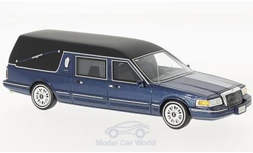 Lincoln Town Car 1/43 GLM Hearse metallise bleue 1997 miniature