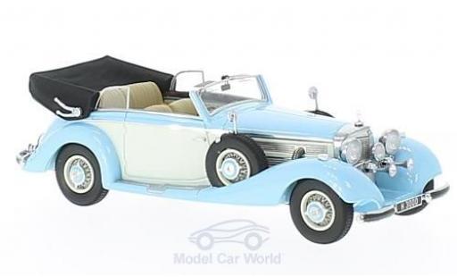 Mercedes 540 1/43 GLM K Cabriolet B hellbleue/blanche RHD 1937 offen miniature