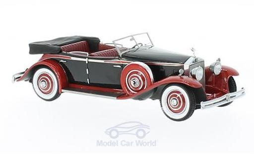 Rolls Royce Phantom 1/43 GLM II Brewster Newmarket Permanent Sport Sedan Cabriolet noire/rouge 1932 miniature
