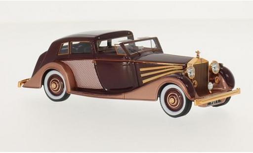 Rolls Royce Phantom 1/43 GLM III Freestone & Webb Sedanca de Ville rouge/kupfer RHD 1937 châssis #3CP38 miniature