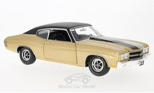 Chevrolet Chevelle 1970 1/18 GMP ACME SS 396 gold/negro with vinyl top coche miniatura