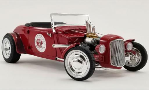 Ford Hot Rod 1/18 GMP Roadster rouge Indian Motorcycle 1934 miniature