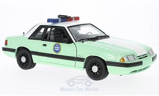 Ford Mustang 1/18 GMP verte/blanche United States Border Patrol SSP 1988 miniature