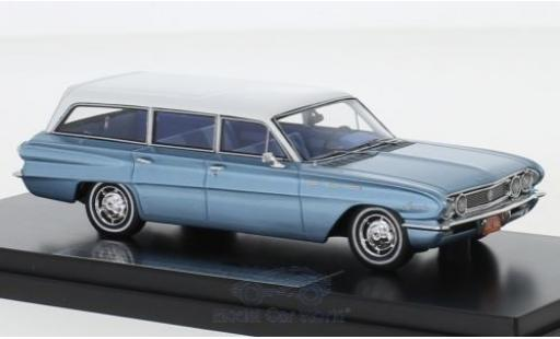 Buick Special 1/43 Goldvarg Collections Station Wagon metallise bleue/blanche 1962 miniature