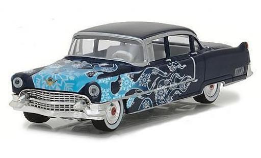 Cadillac Fleetwood 1/64 Greenlight Series 60 blau/Dekor 1955 modellautos