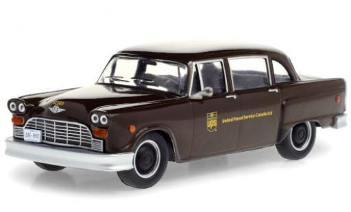 Checker Taxi 1/43 Greenlight cab Parcel Delicery UPS - United Parcel Service Canada Ltd. 1975 miniature