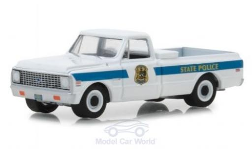 Chevrolet C-10 1/64 Greenlight Cheyenne Delaware State Police 1972 diecast model cars