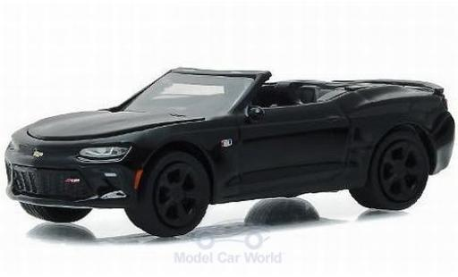 Chevrolet Camaro 1/64 Greenlight Convertible métallisé noire 2017 Black Bandit - Series 16 ohne Vitrine miniature