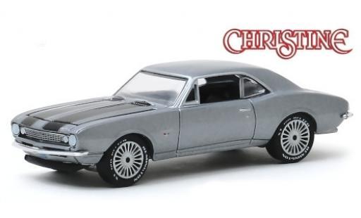 Chevrolet Camaro 1/64 Greenlight metallise grise/noire Christine 1967 miniature