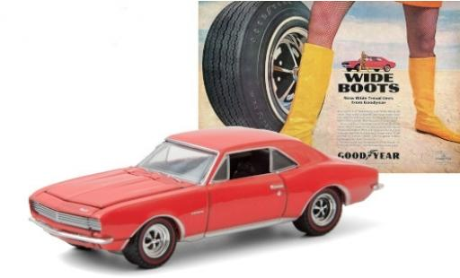 Chevrolet Camaro 1/64 Greenlight red 1967 Goodyear Wide Tread Tires diecast model cars
