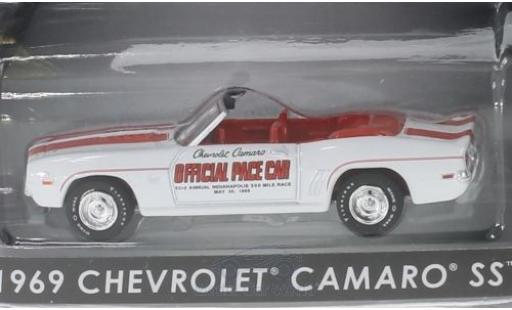 Chevrolet Camaro 1/64 Greenlight SS Convertible Offical Pace Car Indianapolis 500 1969 miniature