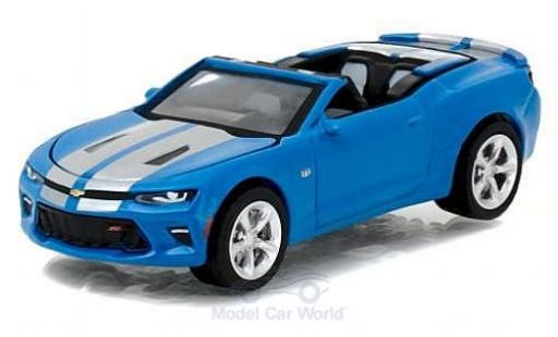 Chevrolet Camaro 1/64 Greenlight SS metallise bleue/grise 2017 Muscle Series 18 ohne Vitrine miniature