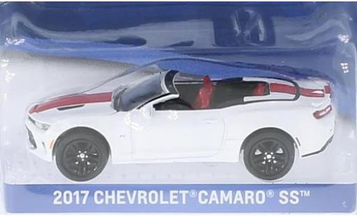 Chevrolet Camaro 1/64 Greenlight SS blanche/rouge 2017 sans Vitrine miniature