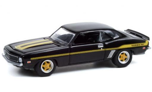 Chevrolet Camaro 1/64 Greenlight Yenko S/C Custom noire/Dekor 1969 miniature