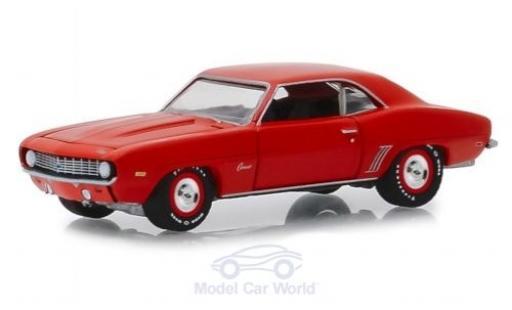 Chevrolet Camaro ZL1 1/64 Greenlight rosso 1969 miniatura