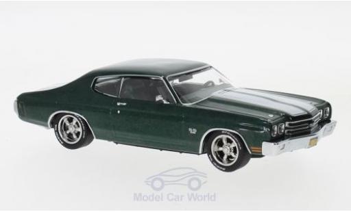 Chevrolet Chevelle 1970 1/43 Greenlight SS 396 metallise verte/blanche John Wick miniature