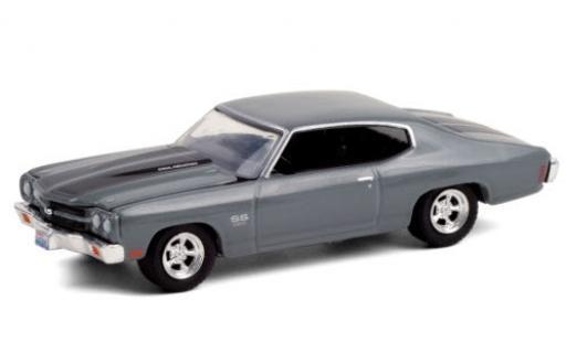 Chevrolet Chevelle 1/64 Greenlight SS 454 metallise grise/matt-noire 1970 Once Upon A Time (TV-s�rie 20011-18) Es war einmal... miniature