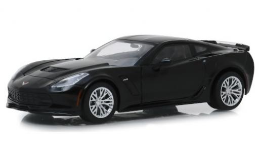 Chevrolet Corvette 1/24 Greenlight (C7) Z06 black 2019 diecast model cars