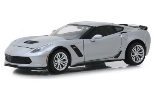 Chevrolet Corvette 1/24 Greenlight (C7) Z06 grise 2019 miniature