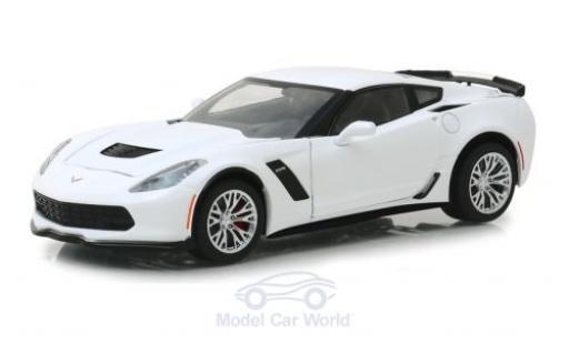 Chevrolet Corvette 1/24 Greenlight Z06 white 2019 diecast model cars