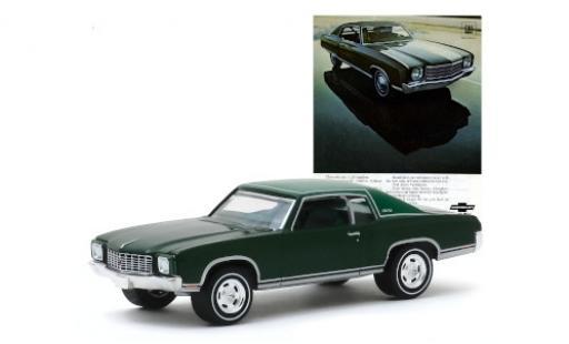 Chevrolet Monte Carlo 1/64 Greenlight métallisé verte/matt-verte 1970 miniature