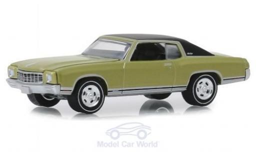 Chevrolet Monte Carlo 1/64 Greenlight SS 454 verte/matt-noire 1971 miniature