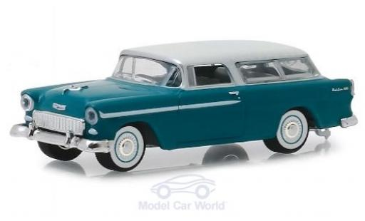 Chevrolet Nomad 1/64 Greenlight turquoise/beige 1955 diecast model cars