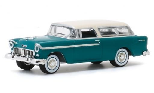 Chevrolet Nomad 1/64 Greenlight metallise verte/blanche 1955 miniature