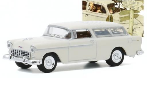 Chevrolet Nomad 1/64 Greenlight blanche 1955 miniature