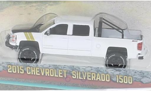 Chevrolet Silverado 1/64 Greenlight 1500 blanche/noire 2015 miniature