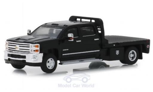 Chevrolet Silverado 1/64 Greenlight 3500HD noire 2018 miniature