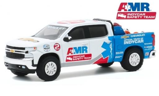 Chevrolet Silverado 1/64 Greenlight AMR IndyCar Safety Team 2020 Official Truck of Indycar diecast model cars
