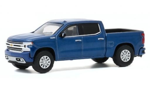 Chevrolet Silverado 1/64 Greenlight High Country metallise bleue 2020 miniature