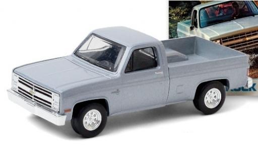 Chevrolet Silverado 1/64 Greenlight metallise grey 1985 diecast model cars