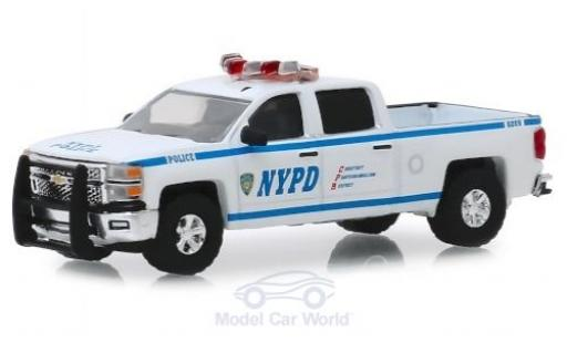 Chevrolet Silverado 1/64 Greenlight rouge/Dekor NYPD - New York Police Department 2019 miniature