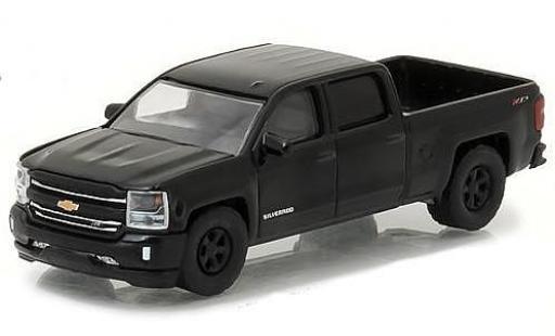 Chevrolet Silverado 1/64 Greenlight black 2016 diecast model cars