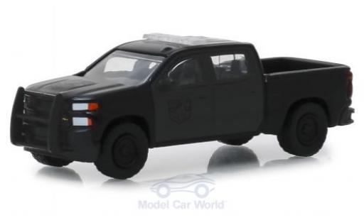 Chevrolet Silverado 1/64 Greenlight SSV noire 2019 miniature