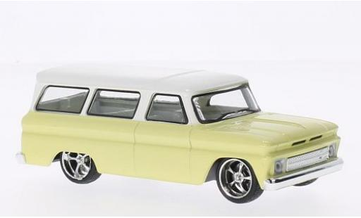 Chevrolet Suburban 1/43 Greenlight Tuning jaune/blanche 1966 miniature