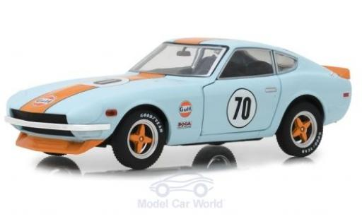 Datsun 240Z 1/24 Greenlight bleue/orange 1970 miniature