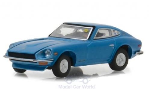 Datsun 240Z 1/64 Greenlight metallise bleue 1970 miniature