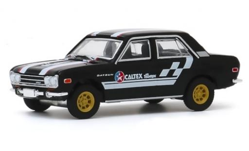Datsun 510 1/64 Greenlight 4-Door Sedan noire/Dekor Caltex 1971 miniature