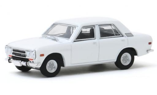 Datsun 510 1/64 Greenlight 4-Door Sedan blanche 1972 miniature