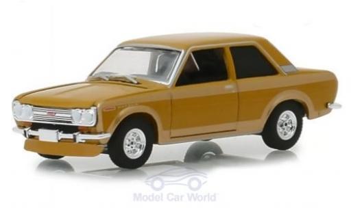 Datsun 510 1/64 Greenlight beige 1968 diecast