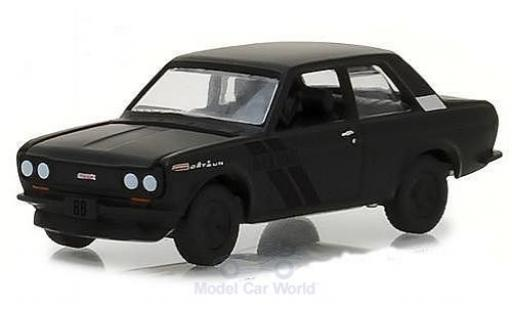 Datsun 510 1/64 Greenlight matt-noire 1968 miniature