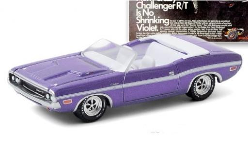 Dodge Challenger 1/64 Greenlight R/T HEMI Convertible metallise lila/white 1970 diecast model cars