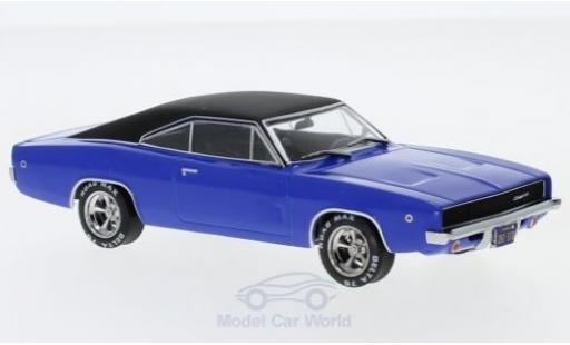 Dodge Charger 1968 1/43 Greenlight blue/matt-black Christine 1968 diecast